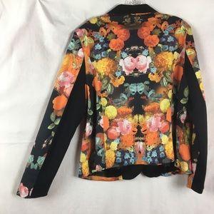 Torrid Floral Print Tuxedo Stretch Blazer Size 1X